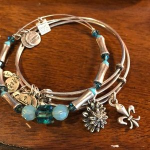 Alex & Ani Strength in Full Bloom Set